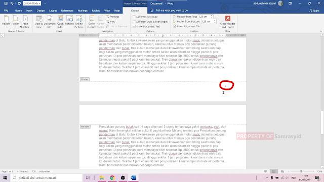 Cara Memberi Halaman di Microsoft Word