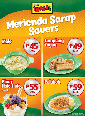 Discover Merienda Sarap Savers at Mang Inasal