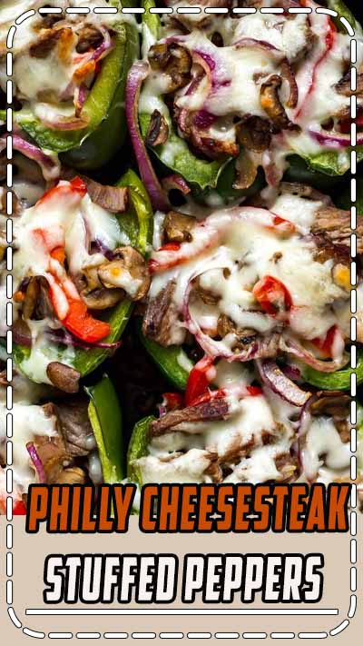 These Philly Cheesesteak Stuffed Peppers are a delicious low-carb spin on the classic sandwich and
