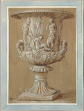 Medici Vase by Charles-Louis Clerisseau - Genre Drawings from Hermitage Museum