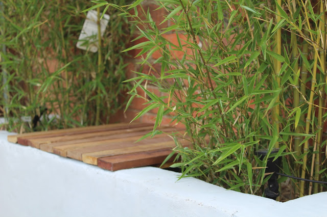 diy garden seat in bamboo