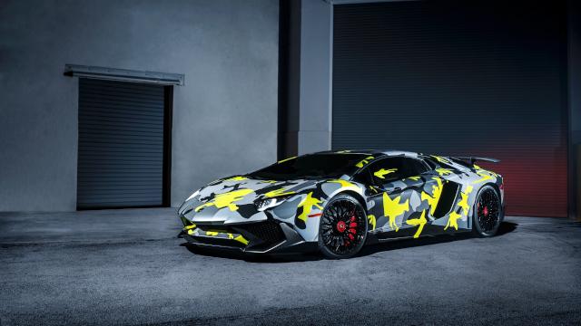 Lamborghini Aventador LP 750 4 SV - Vue De Côté - Full HD 1080p