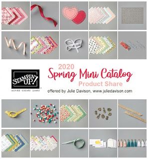 Stampin' Up! January-June 2020 Mini Catalog Product Share ~ offered by Julie Davison, www.juliedavison.com