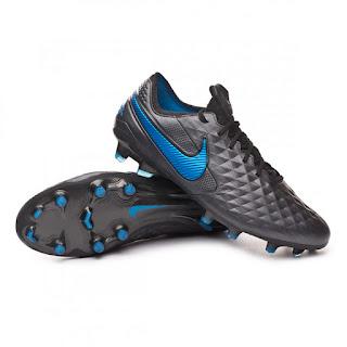 NIKE TIEMPO LEGEND VIII ELITE FG FOOTBALL BOOTS Black-Blue hero