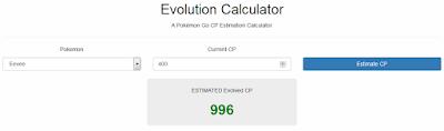 Cara Mengetahui Jumlah CP Evolusi Pokemon Di Pokemon GO Dengan Evolution Calculator