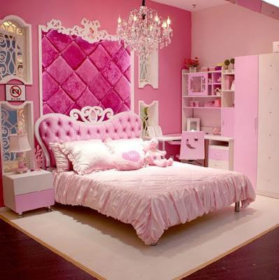 ห้องนอเด็กสวยโทนสีชมพู