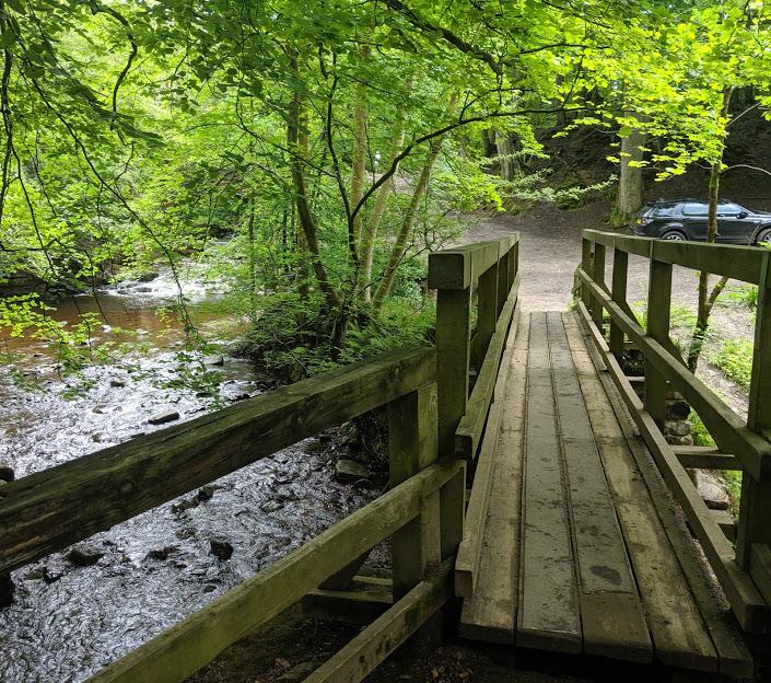 Falling Foss Tea Garden (near Whitby) - pooh sticks bridge