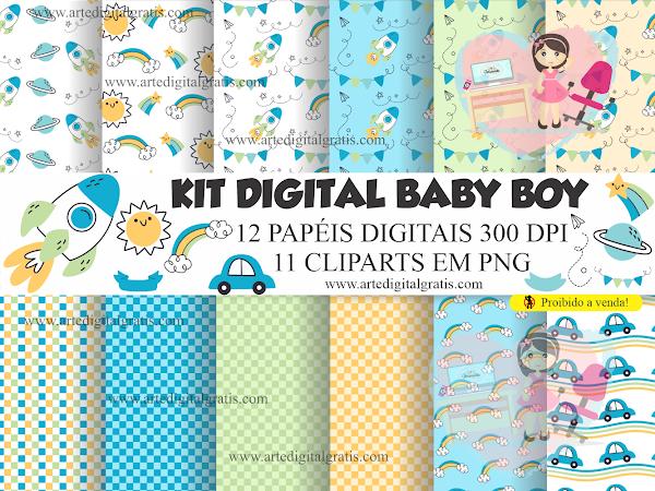 KIT DIGITAL BABY BOY GRÁTIS