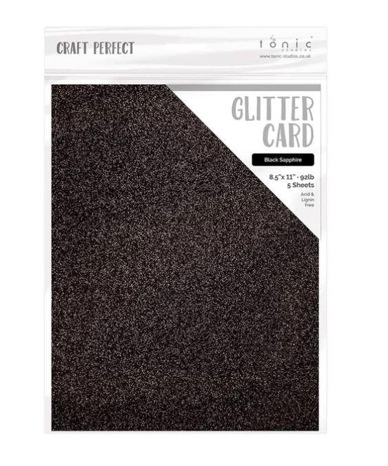 Tonic Studios Glitter Cardstock Black Sapphire