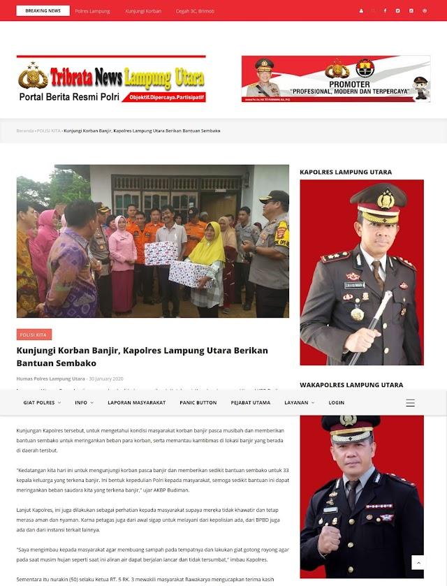 Polres Lampung Utara Tingkatkan Layanan Publik Melalui Website