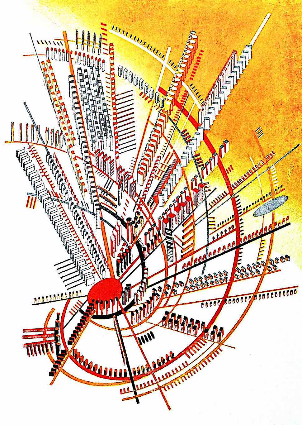 an Iakov Chernikhov constructivism concept