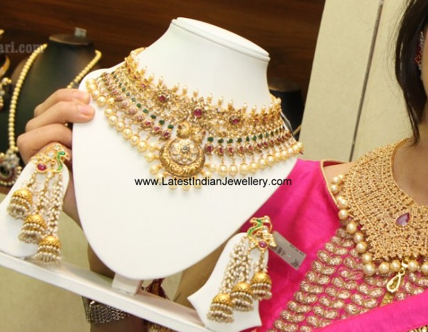 3 Step Jhumkas and Necklace