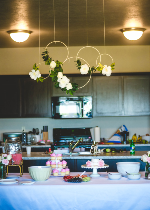 floral first birthday decorations