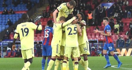 Results of the match Crystal Palace VS Arsenal Score 1-3 Make European Competitors Heats Up