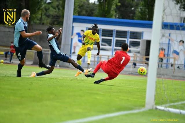 Moses simon scores in Nantes pre-season game against Le Havre