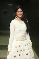 Megha Akash in beautiful White Anarkali Dress at Pre release function of Movie LIE ~ Celebrities Galleries 042.JPG