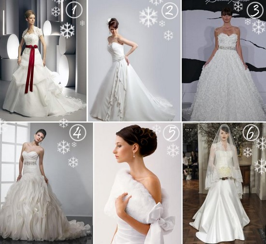 Top 6 Christmas Wedding Gown Styles