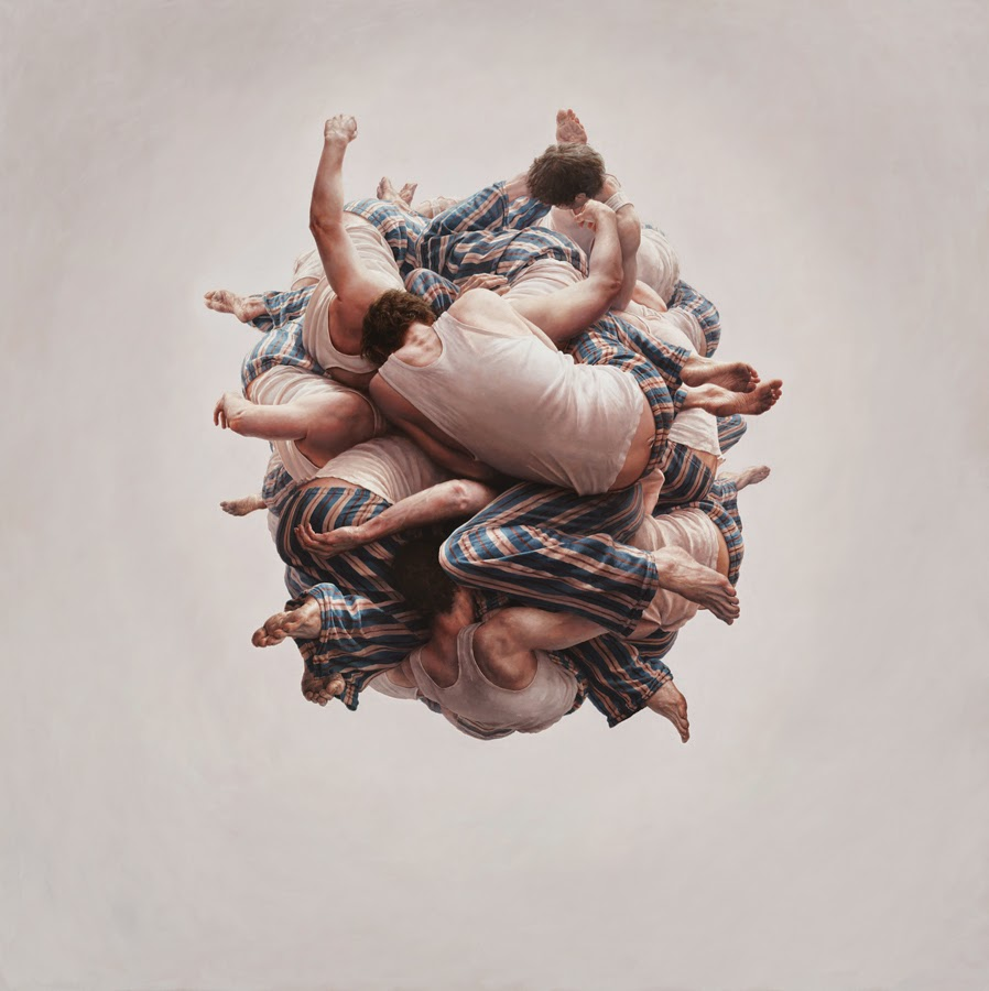 06-Cluster-Jeremy-Geddes-Body-Weightlessness-in-Surreal-Paintings-www-designstack-co