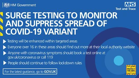 Surge testing how it works UK Gov