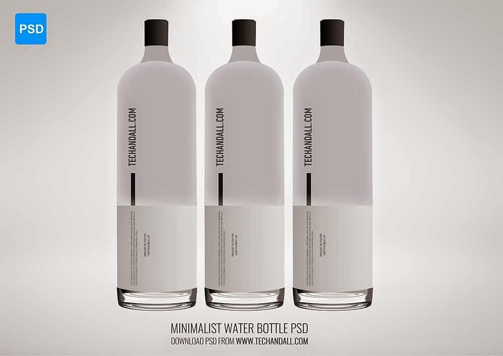Minimalist Water Bottle Mockup PSD