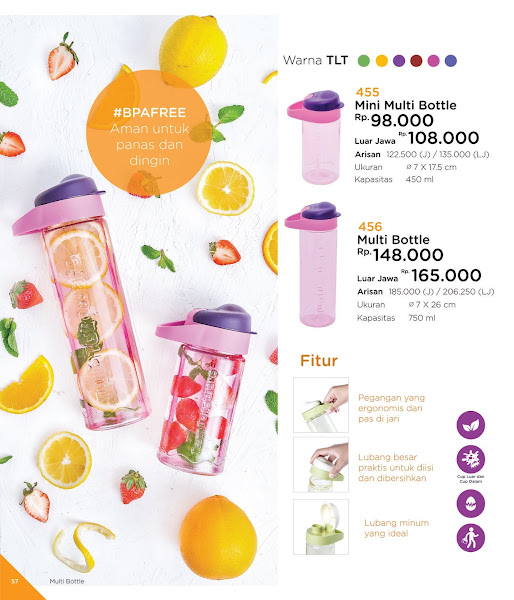 Mini Multi Bottle, Katalog Tulipware 2019