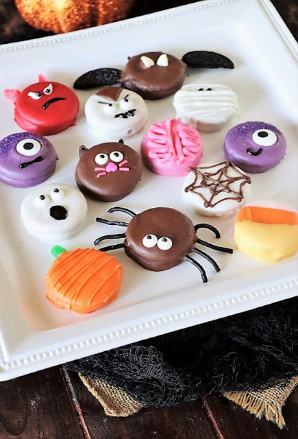Halloween Peanut Butter Ritz Cookies (or Halloween Oreos) - 12 Designs Image