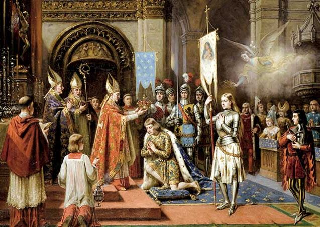 coronation of charles, joan of arc in the background