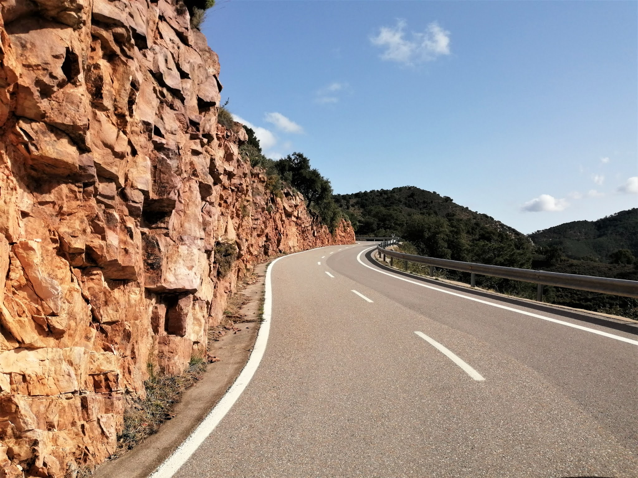 Road near the summit of Port d'Eslida, Castellón, Spain
