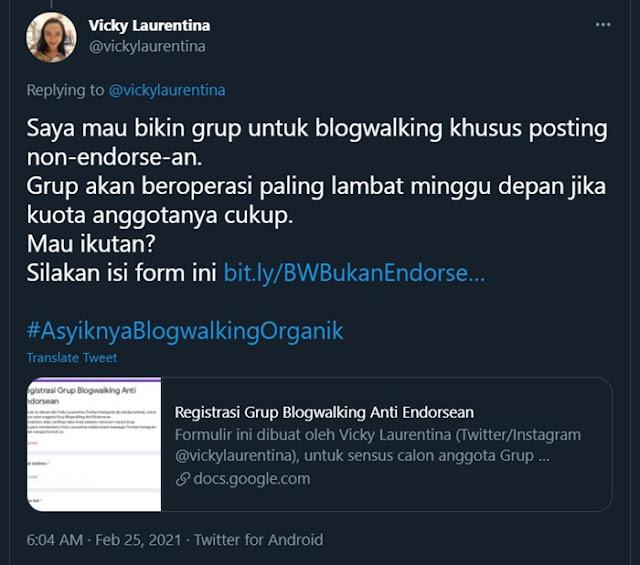 Blogwalking Anti Endorse