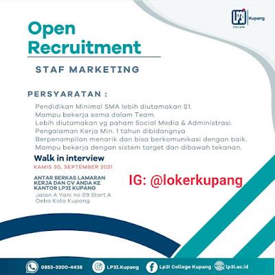 Lowongan Kerja LP3I Kupang sebagai Staff Marketing
