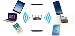 إعادة مشاركة WiFi وانت متصل بشبكة واي فاي أخرى