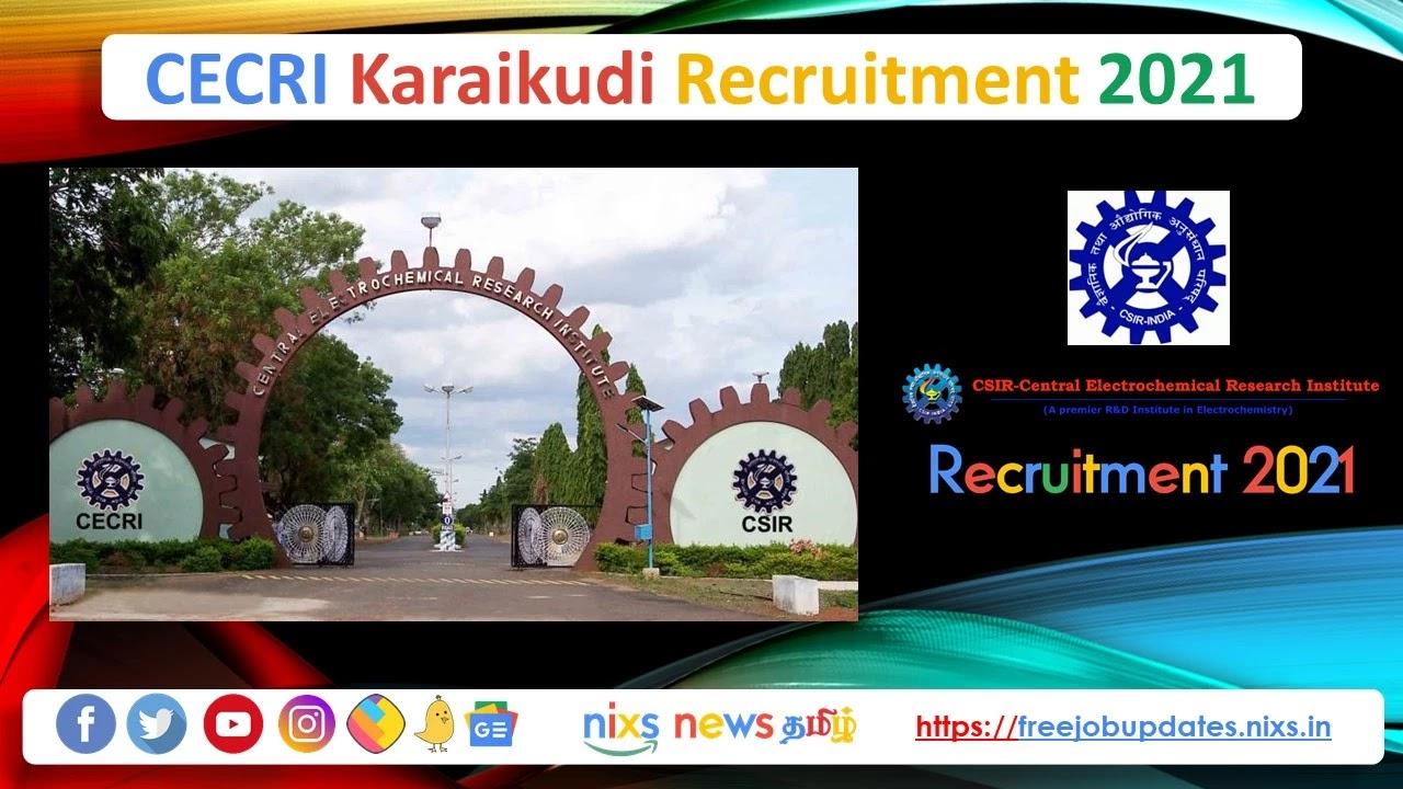 CECRI Karaikudi Recruitment 2021 54 Technical Assistant Posts - Apply Online