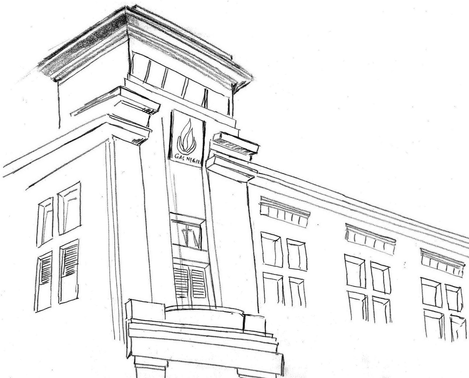 Sketsa Gambar Sekolah