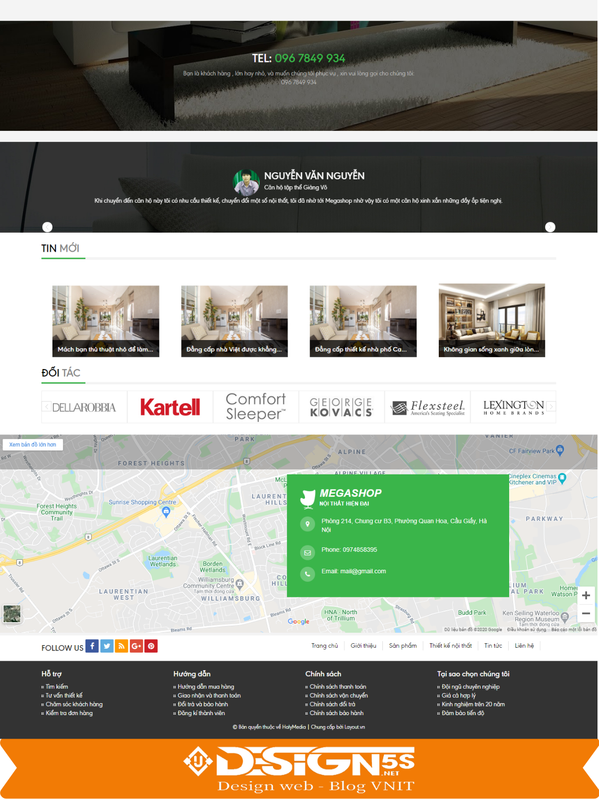 Mẫu Website Thiết Kế Nội Thất Megashop Chuẩn Seo - Ảnh 2