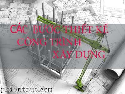 Trình tự các bước thiết kế 1 công trình kiến trúc