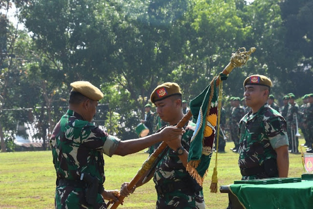 Tongkat Kepemimpinan Danyon Arhanud 15/DBY Diserahterimakan
