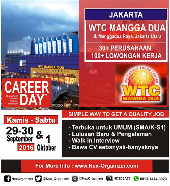Job fair Jakarta Utara - CAREER DAY – WTC Mangga Dua