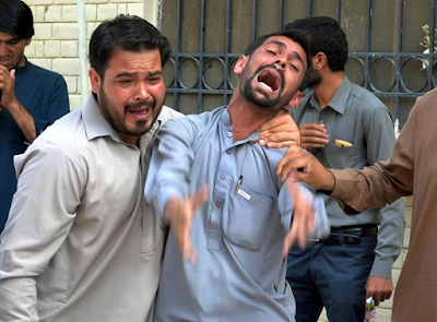 Graphic Photos: At least 42 killed in suicide bombing at a civil hospital in Pakistan
