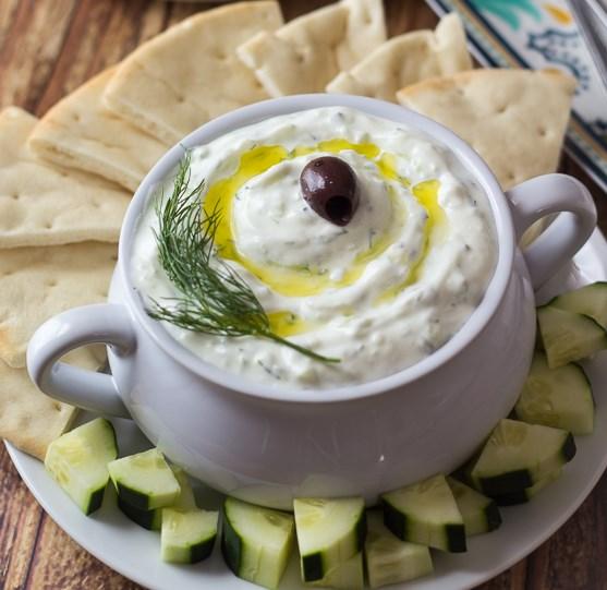 AUTHENTIC GREEK TZATZIKI #dinnerrecipe #appetizer