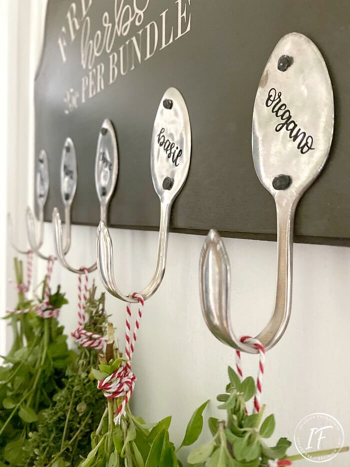 Herb Drying Spoon Hooks