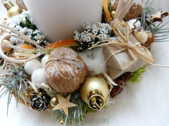 stroik świąteczny w stylu eco