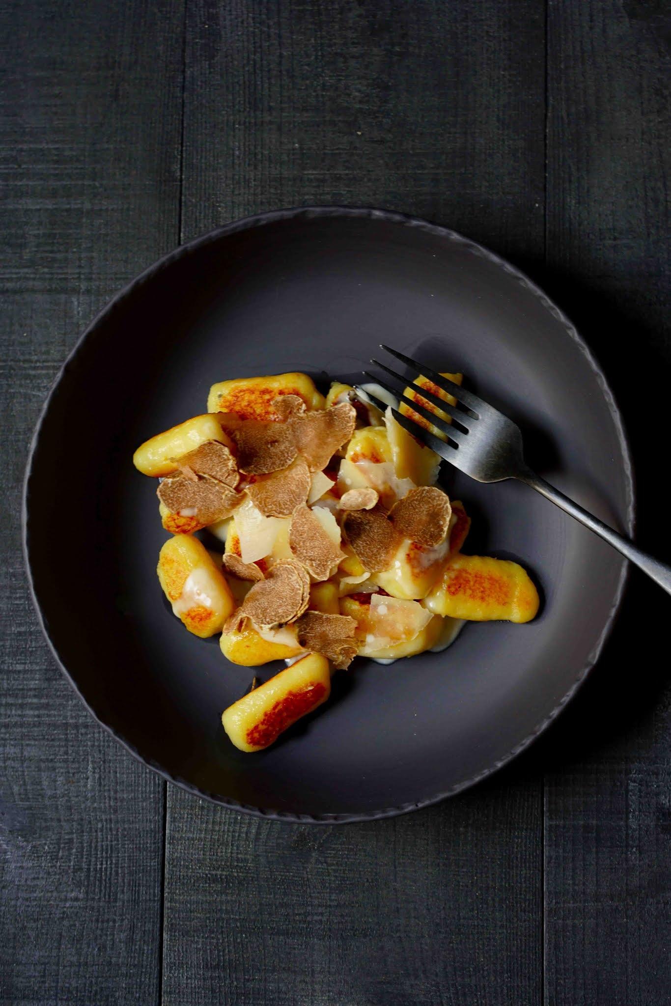 gnocchi faciles , truffe blanche , recette facile