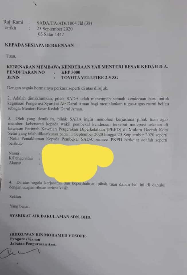 Surat SADA KEP5000