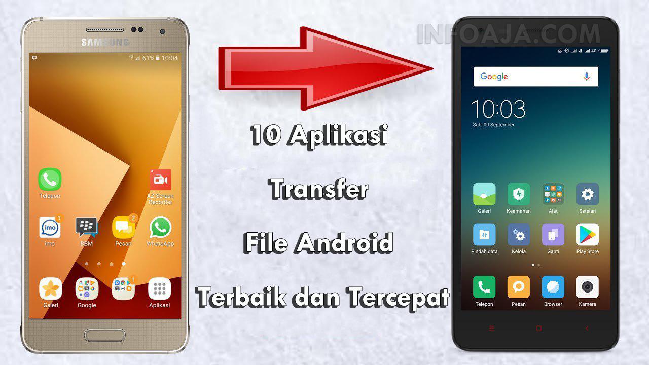 Aplikasi Transfer File Android Terbaik dan Tercepat