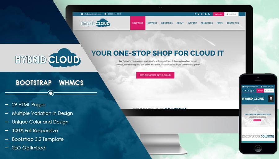WHMCS themes: Hybrid Cloud WHMCS Theme
