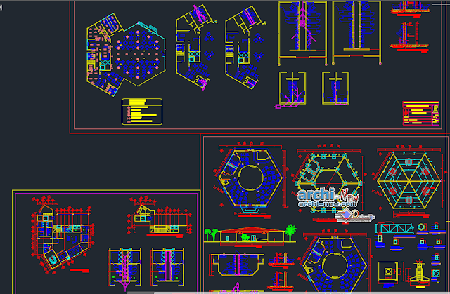 Integration is a 5 star hotel in AutoCAD