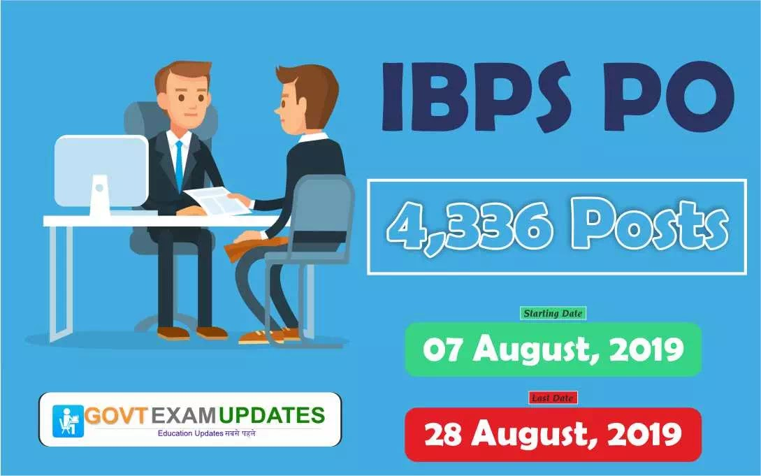 IBPS PO Recruitment 2019: Post 4336, Apply Form, Notification Download