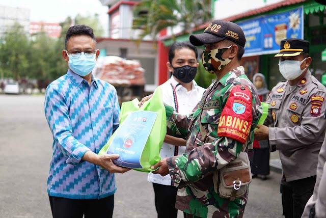 Sebanyak 5 ton Bansos kepada masyarakat terdampak PPKM Darurat COVID 19