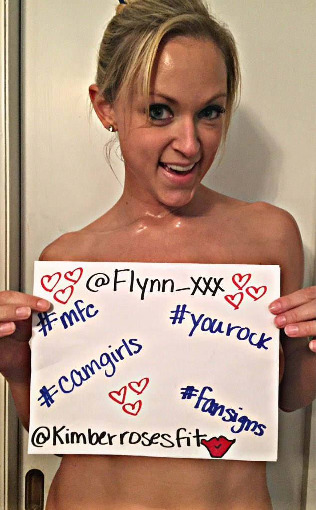 FanSign from my love @KimberRosesFit