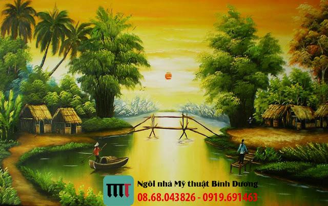 Tranh tuong phong canh cuc dep